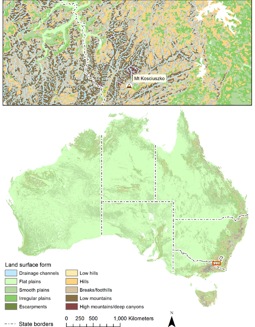 GEOSS Aus MAP Land surface forms.png